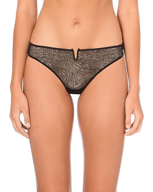 Implicite | Black Pulsion Stretch-tulle Thong | Lyst