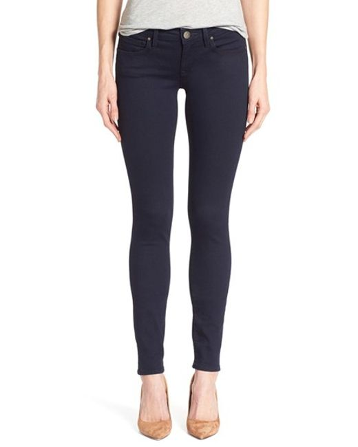 mavi jeans 39 serena 39 stretch skinny jeans in blue lyst. Black Bedroom Furniture Sets. Home Design Ideas