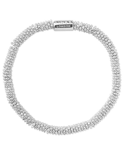 Links of London | Metallic Effervescence Sterling Silver Stretch Bracelet | Lyst