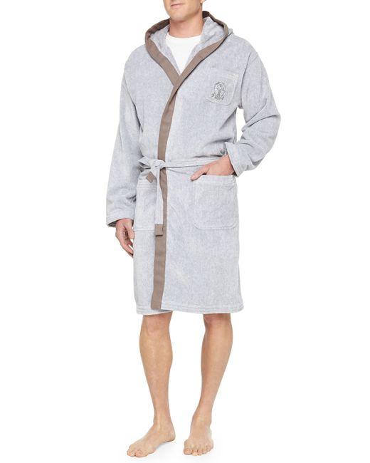 Brunello Cucinelli | Gray Mens Cotton Spa Robe for Men | Lyst