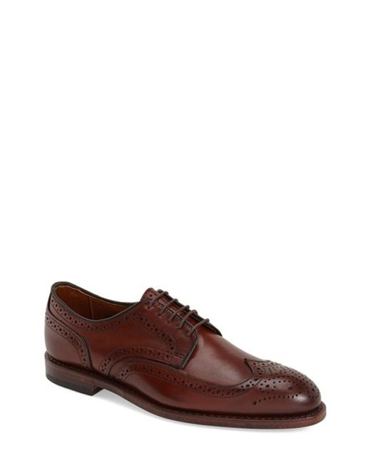 Allen Edmonds | Black 'madison Park' Wingtip for Men | Lyst
