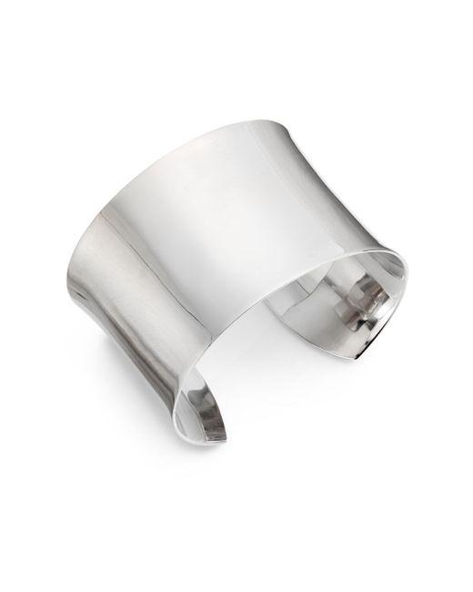 Saks Fifth Avenue | Metallic Sterling Silver Cuff | Lyst