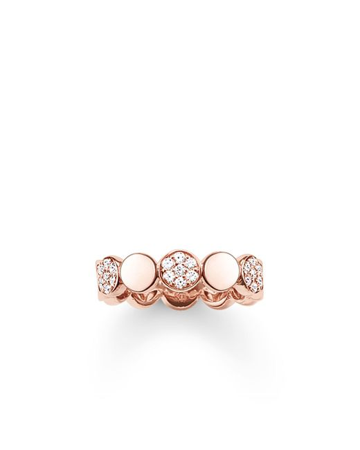 Thomas Sabo | Metallic Sparkling Circles Pave Rose Gold Ring | Lyst