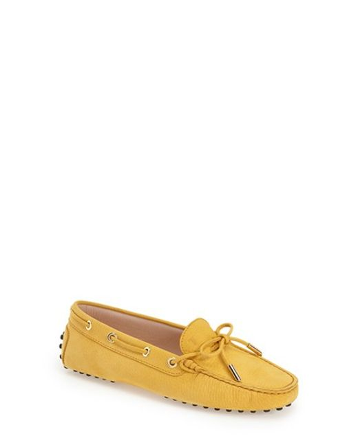 Tod's | Yellow Gommini Suede Driving Shoes | Lyst