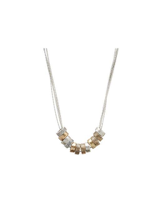 The Sak | Metallic Multi Ring Slider Necklace | Lyst