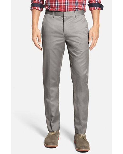 Bonobos | Gray 'weekday Warriors' Non-iron Tailored Cotton Chinos for Men | Lyst