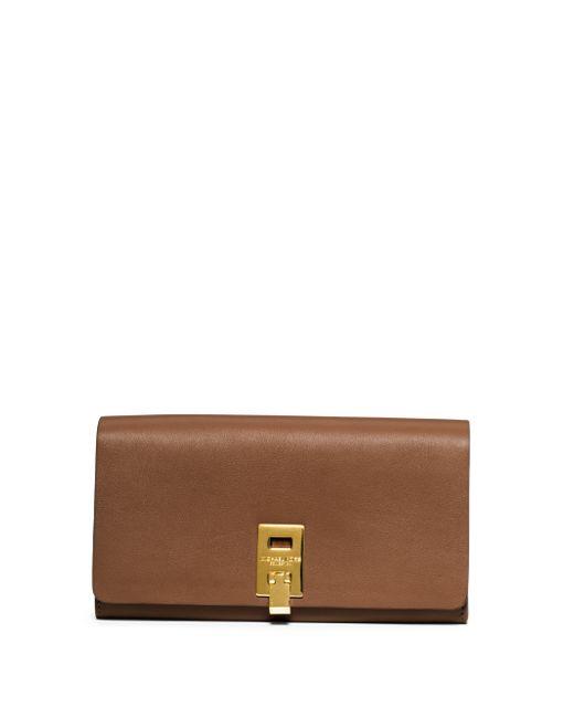 Michael Kors | Brown Miranda Leather Continental Wallet | Lyst