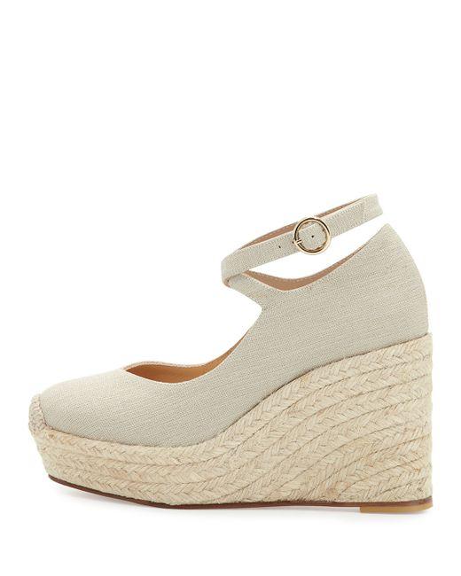 bettye muller crowne linen espadrille wedge sandal in