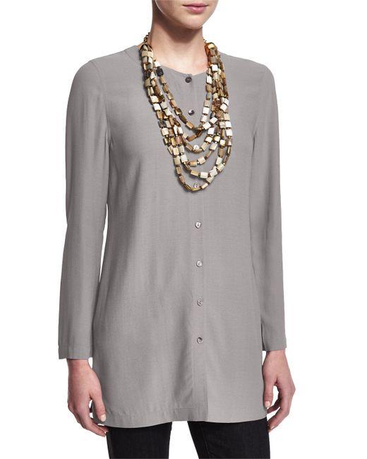Eileen Fisher Loose Silk Blouse 100