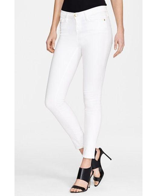 FRAME | Blue 'le Color' Skinny Jeans | Lyst
