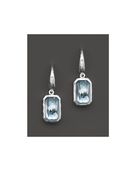 Ippolita | Blue Rock Candy Sterling Silver Wonderland Rectangular Drop Earrings | Lyst