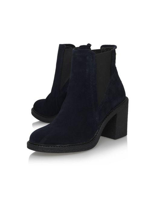 Carvela Kurt Geiger | Blue Sparl High Block Heel Ankle Boots | Lyst