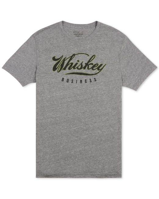 Lucky brand men 39 s whiskey business graphic print t shirt for Graphic t shirt printing company