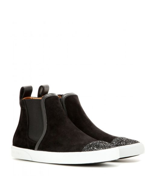 Jimmy Choo Suede High top Sneakers In Black Save 31 Lyst