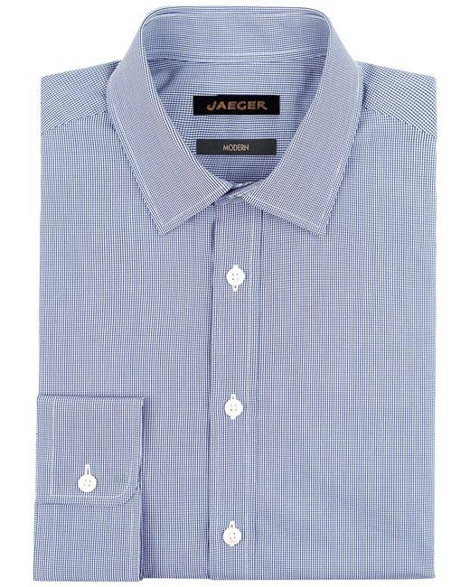 Jaeger   Blue Gingham Non-iron Regular Shirt for Men   Lyst