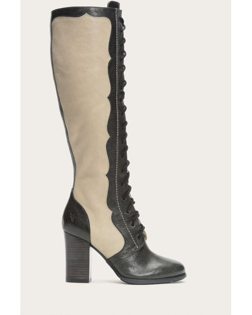 Frye | Gray Parker Dutchess Leather Boots | Lyst