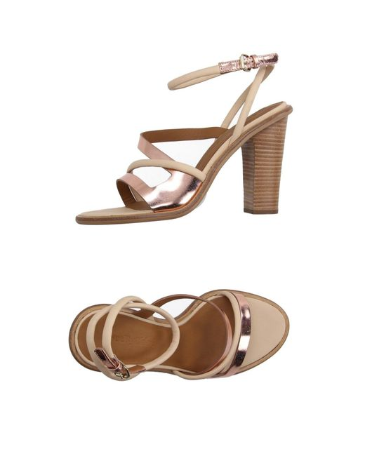 see by chlo sandals in beige skin color save 41 lyst. Black Bedroom Furniture Sets. Home Design Ideas