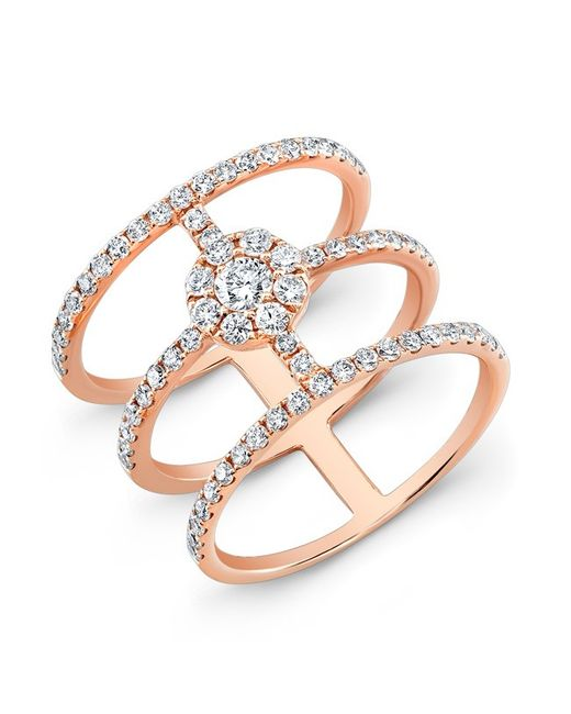Anne Sisteron | Pink 18kt Rose Gold Diamond Fleur Ring | Lyst