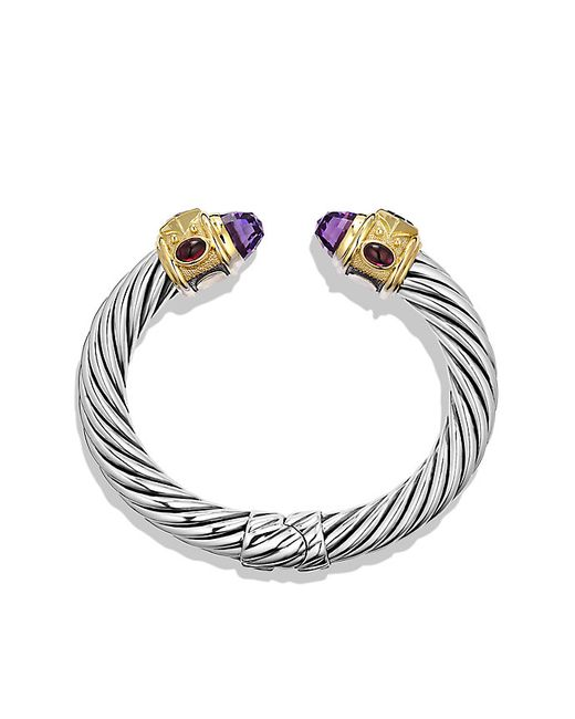 David Yurman | Metallic Renaissance Bracelet With Amethyst, Iolite, And Gold, 10mm | Lyst