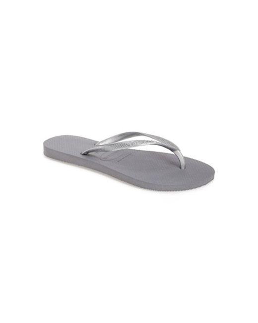 Havaianas | Gray 'slim' Flip Flop | Lyst
