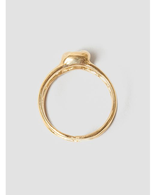 Odette New York | Metallic Stacked Lovers Knot Ring Brass | Lyst