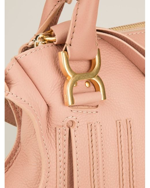 Chlo¨¦ Marcie Leather Shoulder Bag in Pink (pink \u0026amp; purple)   Lyst