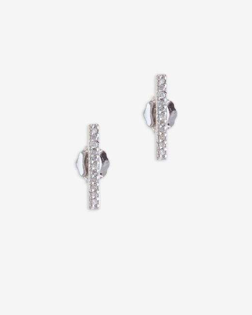 Adina Reyter | Metallic Pave Diamond Bar Earring | Lyst