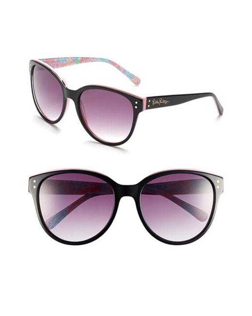 Lilly Pulitzer | Black Lilly Pulitzer 'atwood' 58mm Sunglasses | Lyst