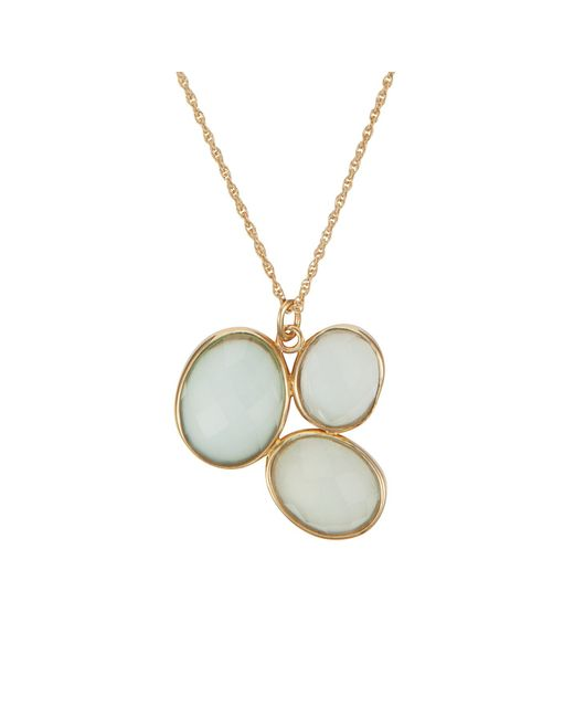 Caroline Creba   Blue 18ct Gold Plated Sterling Silver 14ct Aqua Chalce   Lyst