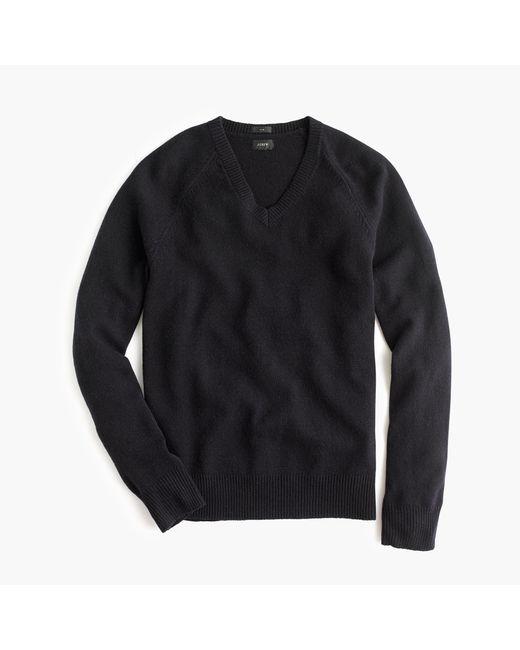 J.Crew | Blue Slim Lambswool V-neck Sweater for Men | Lyst