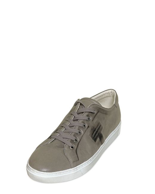 Dolce & Gabbana | Gray Messico Washed Leather Sneakers for Men | Lyst