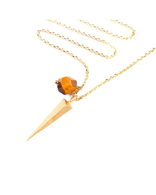 Ona Chan Jewelry | Metallic Dagger And Tiger's Eye Stone Necklace | Lyst