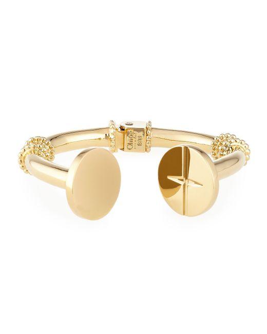 Chloé | Metallic Frankie Brass Cuff Bracelet | Lyst