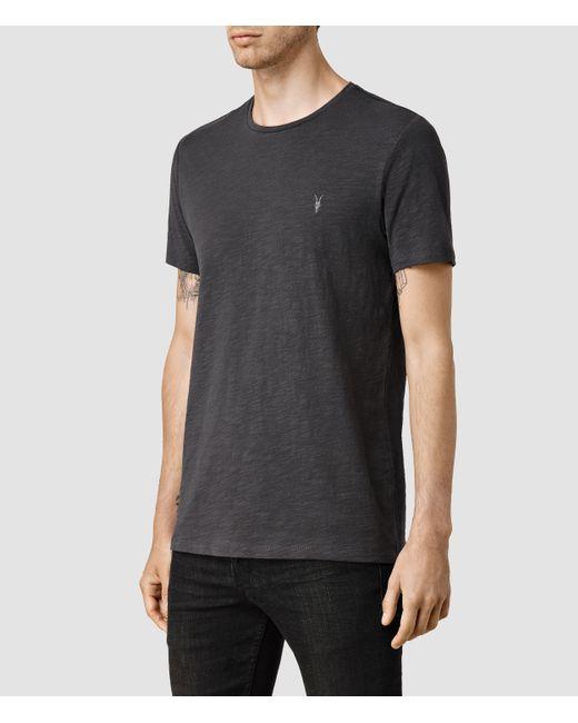 AllSaints | Black Soul Crew T-shirt Usa Usa for Men | Lyst