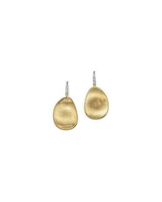Marco Bicego | Metallic 18k Yellow Gold And Diamond Lunaria Drop Earrings | Lyst