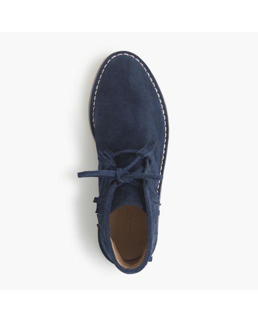 J.Crew | Blue Macalister Fringe Boots | Lyst