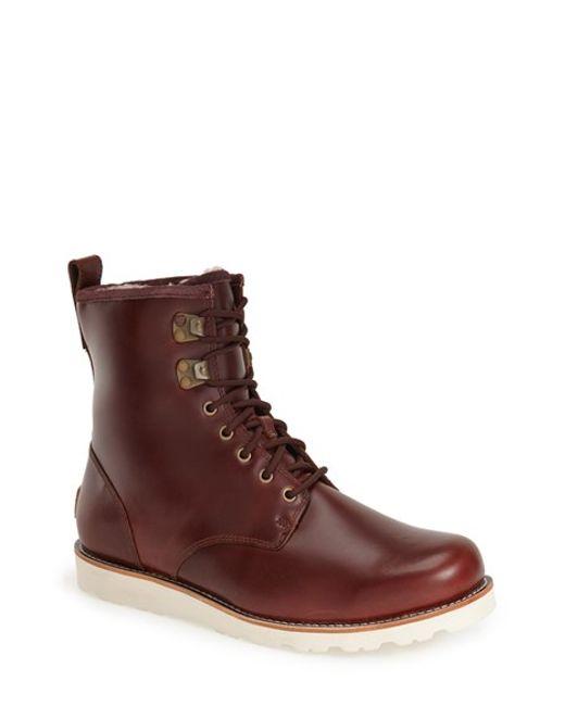 ugg hannen waterproof boot in brown for cordovan