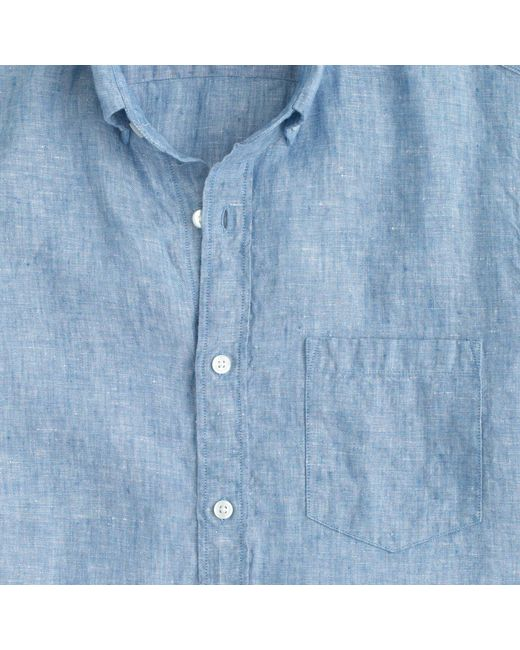 J Crew D 233 Lav 233 Irish Linen Shirt In Blue For Men Amalfi