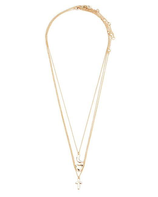 Forever 21 | Metallic Mixed Charm Necklace Set | Lyst