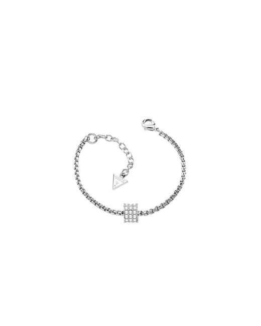 Guess | Metallic G Rounds Pave Cylinder Bracelet | Lyst