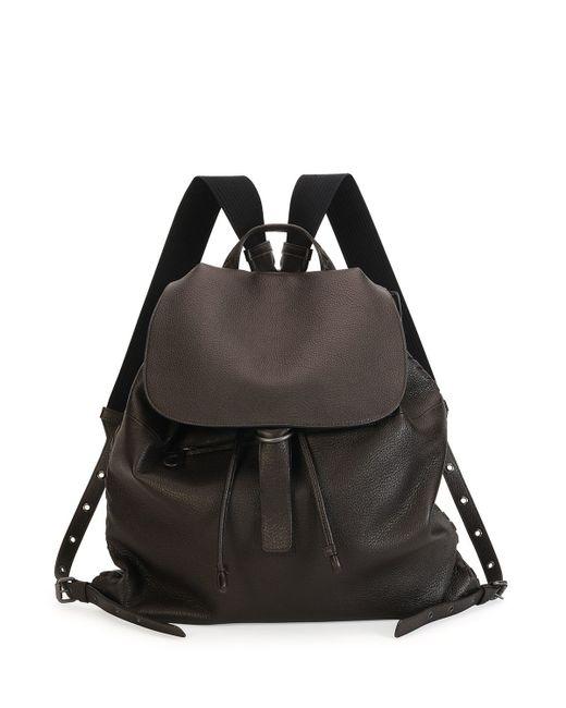 Bottega Veneta | Brown Woven Leather Backpack | Lyst