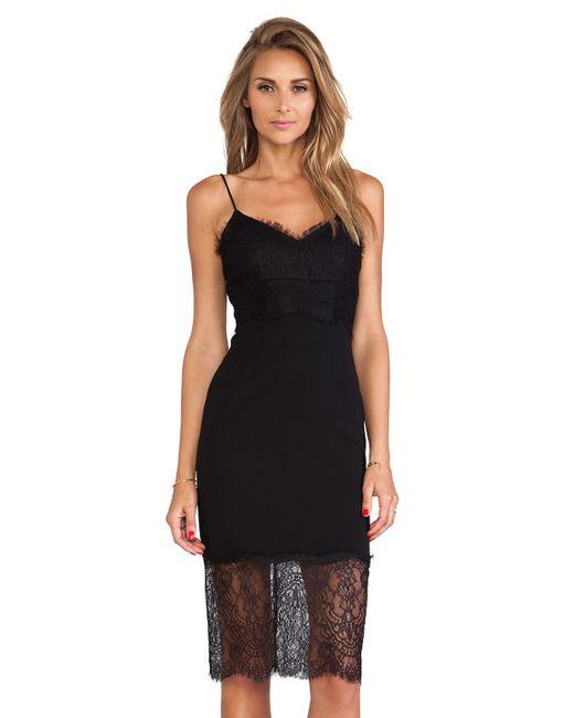 Nicholas | Black Eyelash Lace Dress | Lyst
