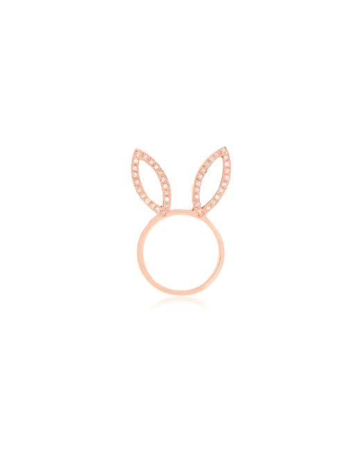 Jacquie Aiche | Metallic Diamond Bunny Ring | Lyst