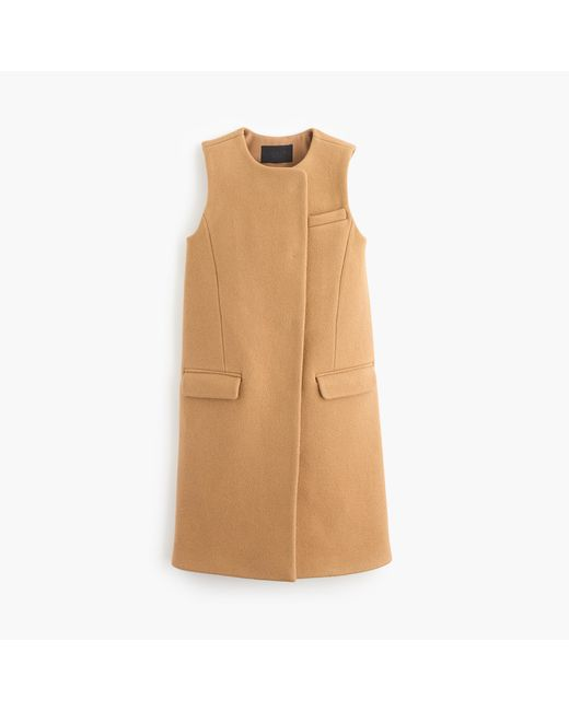 J.Crew | Brown Collection Double-faced Italian Wool Sleeveless Coat | Lyst