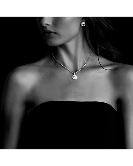 David Yurman | Petite Albion Pendant Necklace With Black Onyx And Diamonds | Lyst