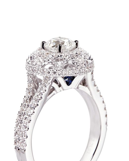 Diamond Engagement Ring In Silver
