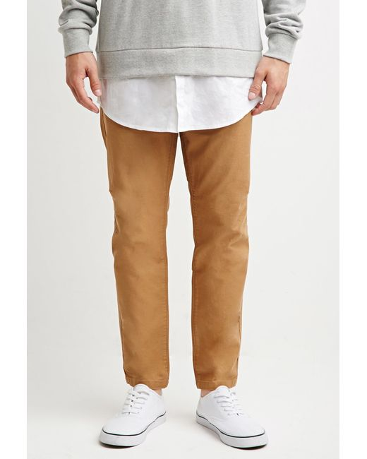 Forever 21 | Natural Drawstring Canvas Pants for Men | Lyst