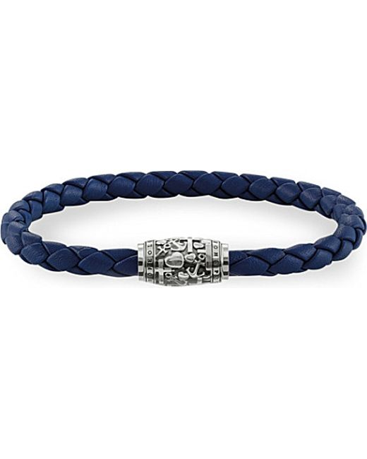Thomas Sabo | Blue Rebel At Heart Leather Unity Bracelet | Lyst