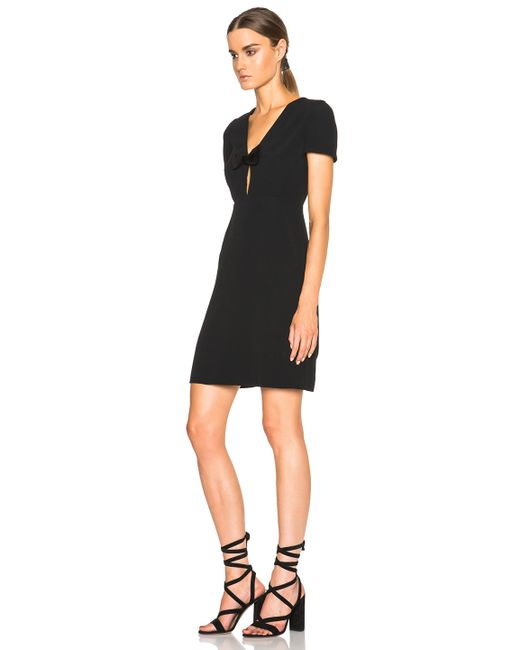 Burberry Prorsum   Black Deep V Bow Dress   Lyst