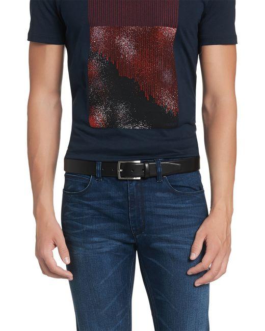 HUGO | Black Smooth Leather Belt: 'c-barney-l' for Men | Lyst